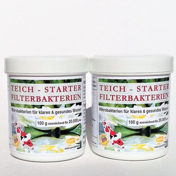 Teich-Starter-Filterbakterien 200g für 40.000 Liter Teichwasser Koi pondovit