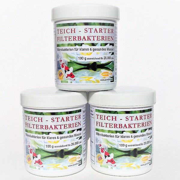 Teich-Starter-Filterbakterien 300g für 60.000 Liter Teichwasser Koi pondovit