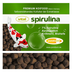 VITAL - SPIRULINA Premium Koifutter 6 kg / 6 mm