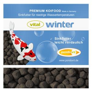 VITAL - WINTER Premium Koifutter 25 kg / 3 mm