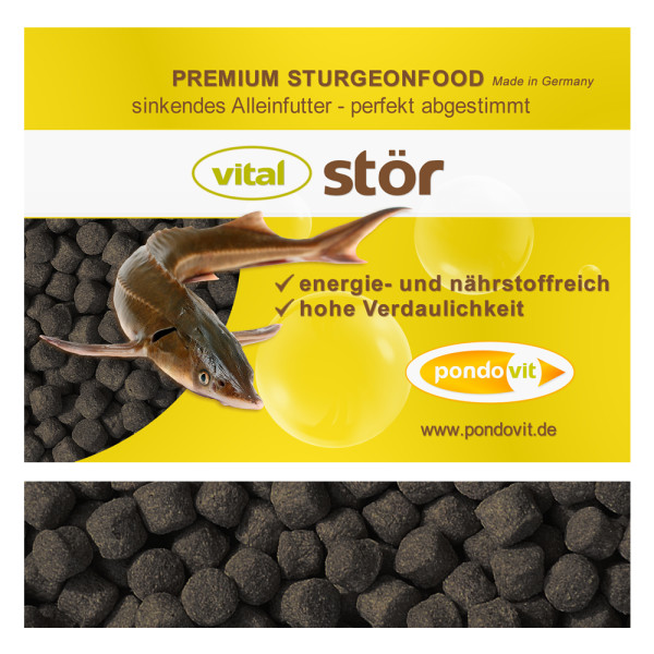 vital stör Premium Störfutter 1,5 kg / 5 mm