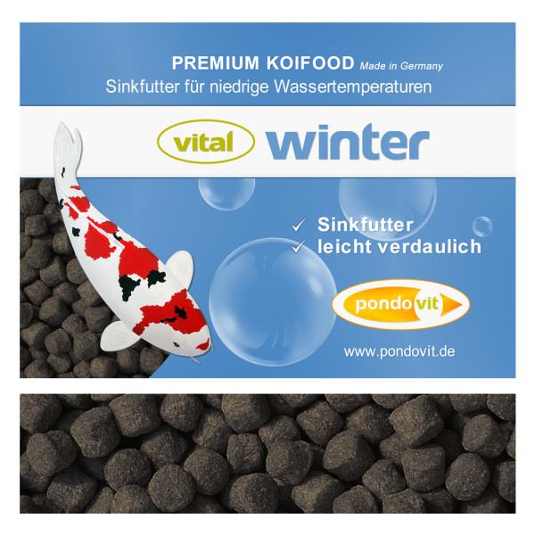 VITAL - WINTER Premium Koifutter 25 kg / 5 mm